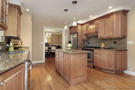 Kitchen Color Ideas With Light Wood Cabinets Pictures Of Kitchens Traditional Light Wood Kitchen Cabinets Page 7