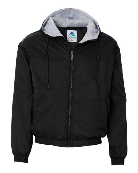 Ink Black Grey Polos Jacket Jaket Parasut Jaket Elegan augusta sportswear hooded fleece lined jacket weisk