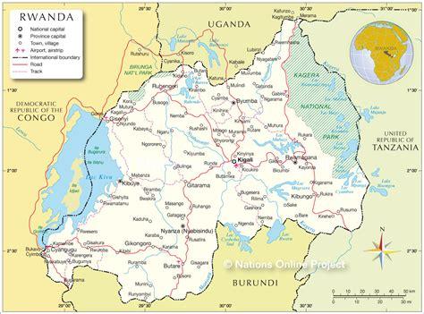 rwanda map political map of rwanda nations project