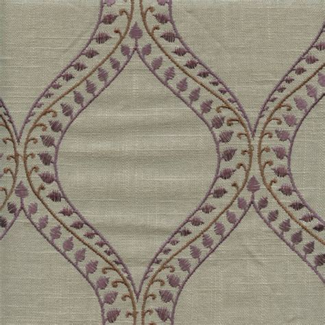 embroidered linen drapery fabric society lake doe purple grey embroidered linen drapery