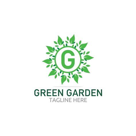 green garden logo  leaves vector