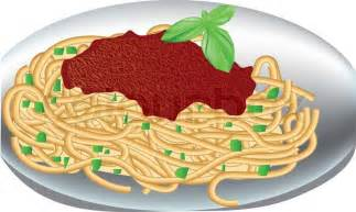 plate of spaghetti vector colourbox