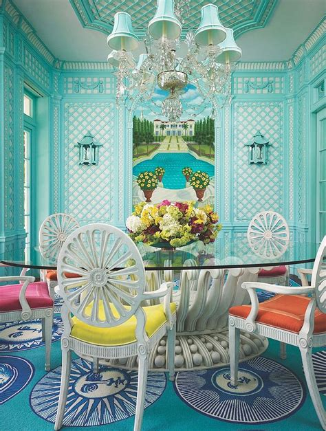 vibrant tropical dining rooms  colorful zest