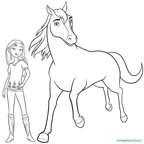 spirit riding free coloring pages coloring pages for kids