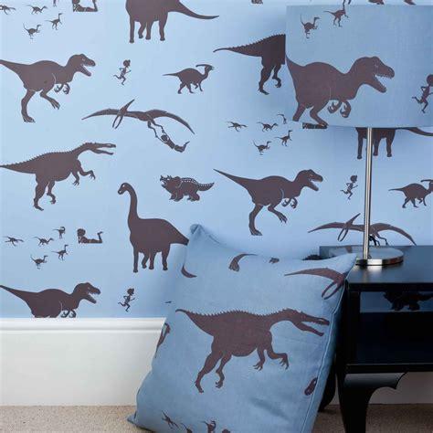 dinosaur wallpaper for bedroom blue dinosaur wallpaper for children dya think e saurus