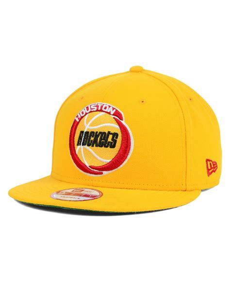 Snapback Hat U Imbong 1 lyst ktz houston rockets hwc team color 9fifty snapback cap in yellow for