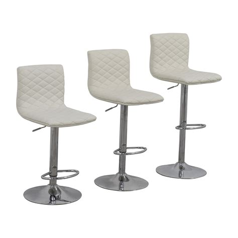 2nd Bar Stools by 45 White Quilted Bar Stool Chairs Chairs