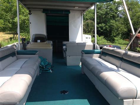 30 ft pontoon boat trailer for sale sun tracker 30ft party hut pontoon boat w hard roof and