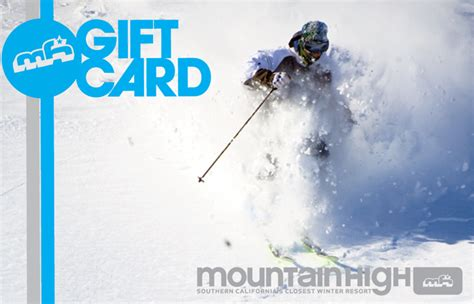 Mountain High Gift Cards - mountain high gift cards