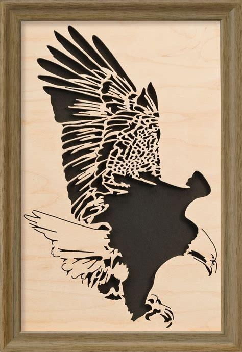 soaring eagle fretwork set scroll  woodworking crafts
