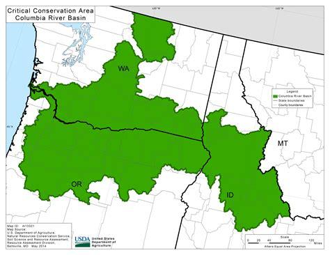 columbia river map usa columbia river basin nrcs