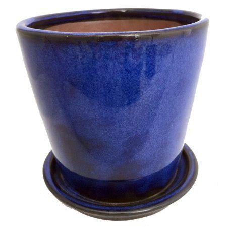 Cobalt Blue Planters by Ceramic Planter And Saucer 5 5 Quot Cobalt Blue