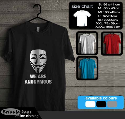 Kaos Anonymous Murah tshirt anonymous vendetta 02 baju kaos distro murah