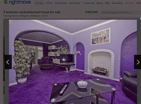 garish  gorgeous  purple  bedroom house  sale