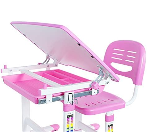 childrens desk and chair set pink vivo height adjustable children s desk and chair set pink