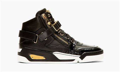 versace s s14 black leather high top sneakers highsnobiety
