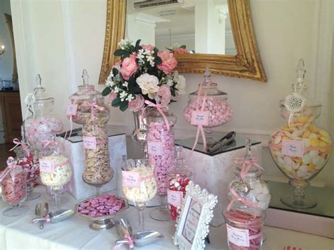 wedding candy buffet in pink candy buffets l sweetie