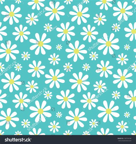 cute pattern passwords seamless background cute daisy pattern great stock vector