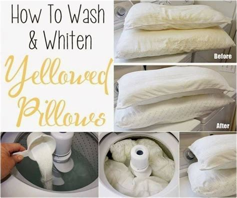 best way to clean yellow pillows easy tutorial