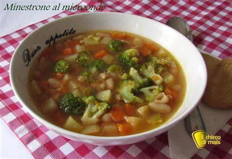 cucinare minestrone minestrone al microonde ricetta veloce