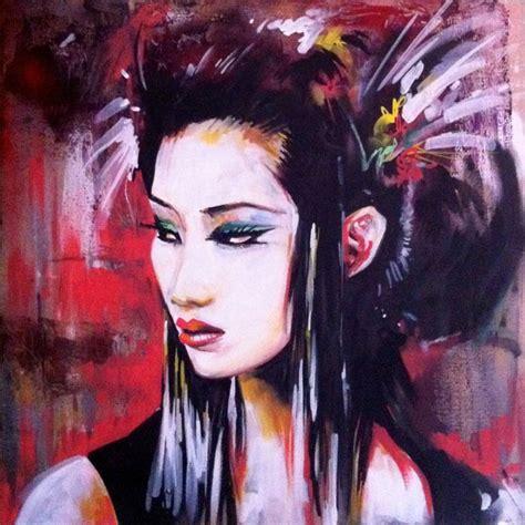 watercolor tattoo kitchener saatchi geisha painting by dan kitchener