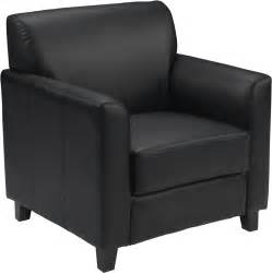soft black leather commercial lounge chair ships in