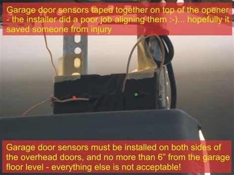 garage door safety sensor troubleshooting garage door sensors overhead door opener sensor