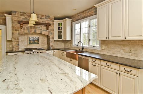 white kitchen cabinets with antique brown granite photography for granite leathered antique brown