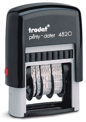 printy rubber st trodat 4820 4mm high characters tst rubber st