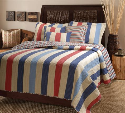 tween boy bedding denin blue multicolor austin stripe quilt bedspread