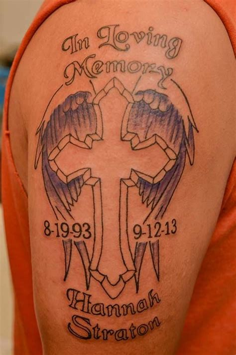 in loving memory cross tattoos 24 memorial cross tattoos ideas