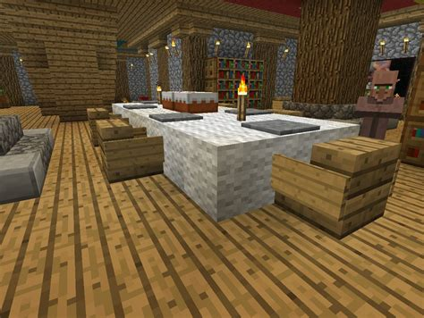 Dining Table In Minecraft Pinewood Lodge Minecraft Project