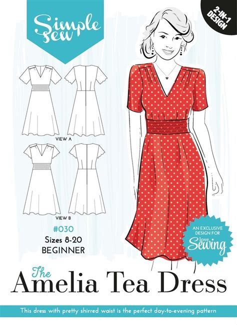 envelope dress pattern free pattern 30 amelia tea dress envelope ol free