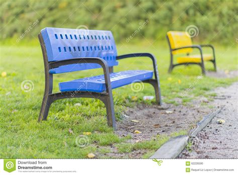 colored benches colored benches stock photo image of colored happy