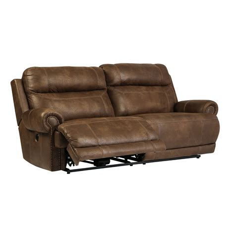 signature leather reclining sofa signature design by austere 2 seat reclining sofa