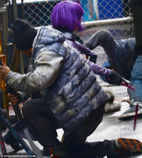 biography of film kick chloe moretz dons purple wig to film fight scenes for kick