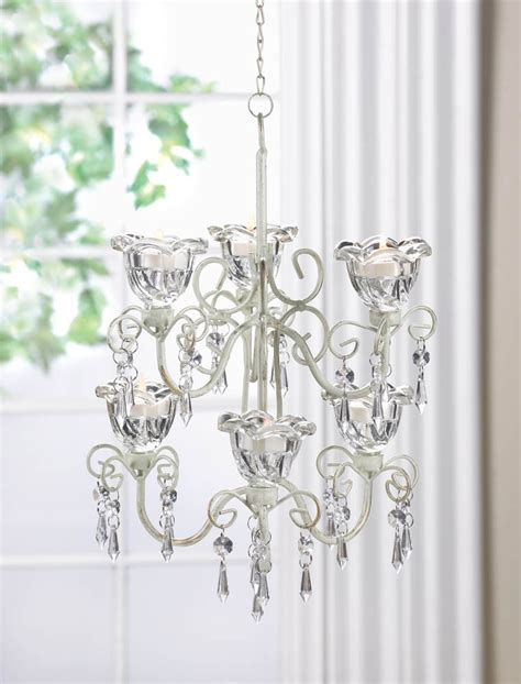 kronleuchter teelichthalter flowers blooms chandelier candle holder