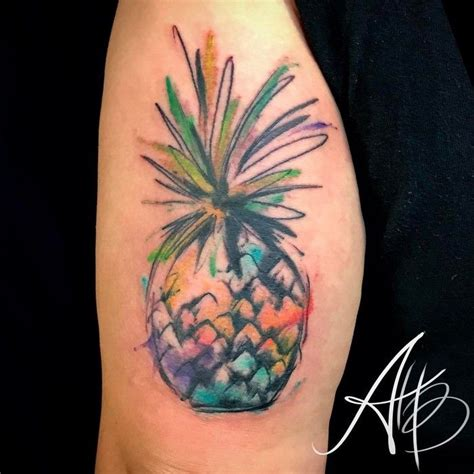 pineapple tattoo meaning 37 fresh pineapple designs for tropical vibes my