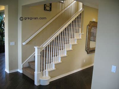 white banister rail white painted stair handrail
