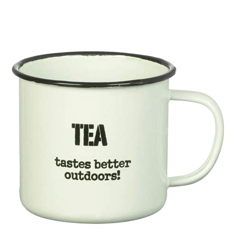 Mug Blirik 10 Cm Mug Enamel Mug Kaleng parlane tea tastes enamel mug white 8 x 9cm iwoot