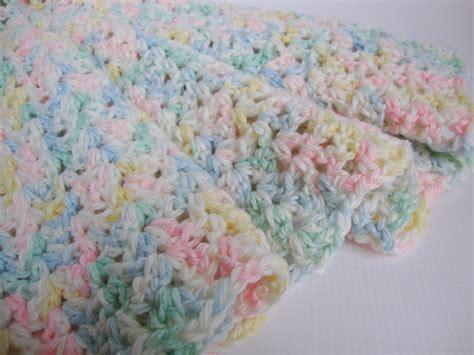 crochet baby blanket crib size blanket baby blanket by toivima
