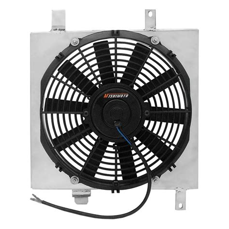 electric cooling fan with shroud mishimoto 174 electric fan with aluminum shroud