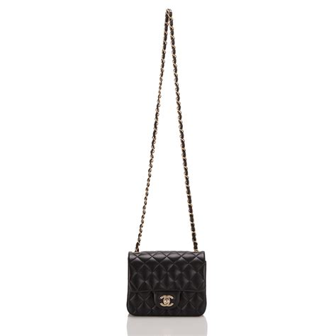 chanel black quilted lambskin square mini classic flap bag world s best