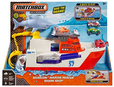 mission marine boats matchbox mission marine rescue shark ship discontinued