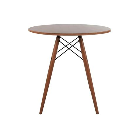 Small Circular Dining Table Eiffel Inspired Small Walnut Circular Dining Table Walnut Wood Legs