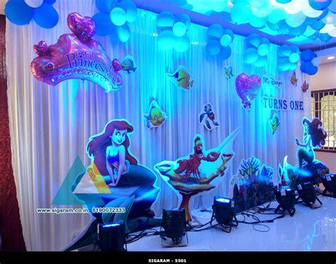 little decorations little mermaid themed birthday decoration celebration