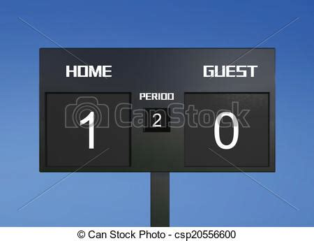 0 And 1 Drawing by Stock Illustration Of Soccer Scoreboard Score 1 0