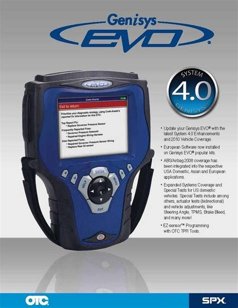 evo tool otc 3875 genisys evo scan tool with 2013 updates brand new