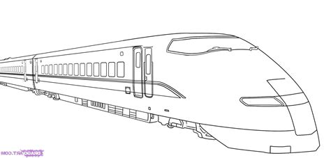 coloring page bullet train drawn train bullit pencil and in color drawn train bullit