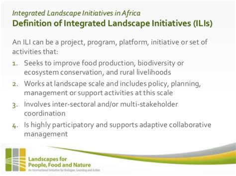 Landscape Conservation Definition Integrated Landscape Initiatives An Emerging Paradigm For